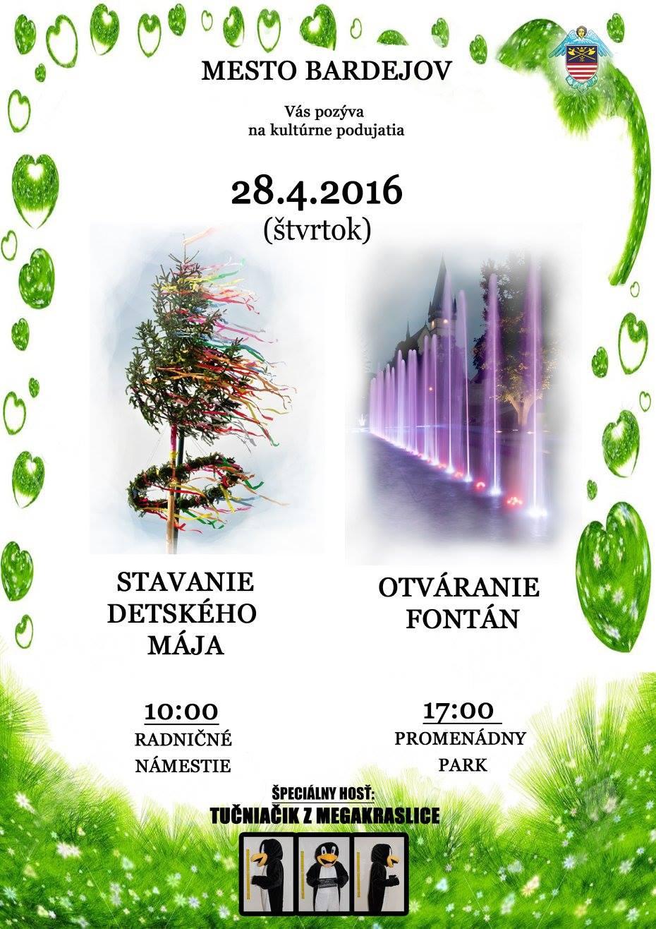 Stavanie detského Mája a Otváranie fontán (28.04.2016)