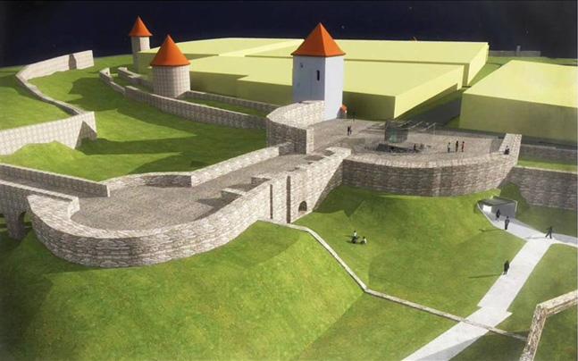 Obnova Južnej brány s barbakánom, tzv. Horného hradu