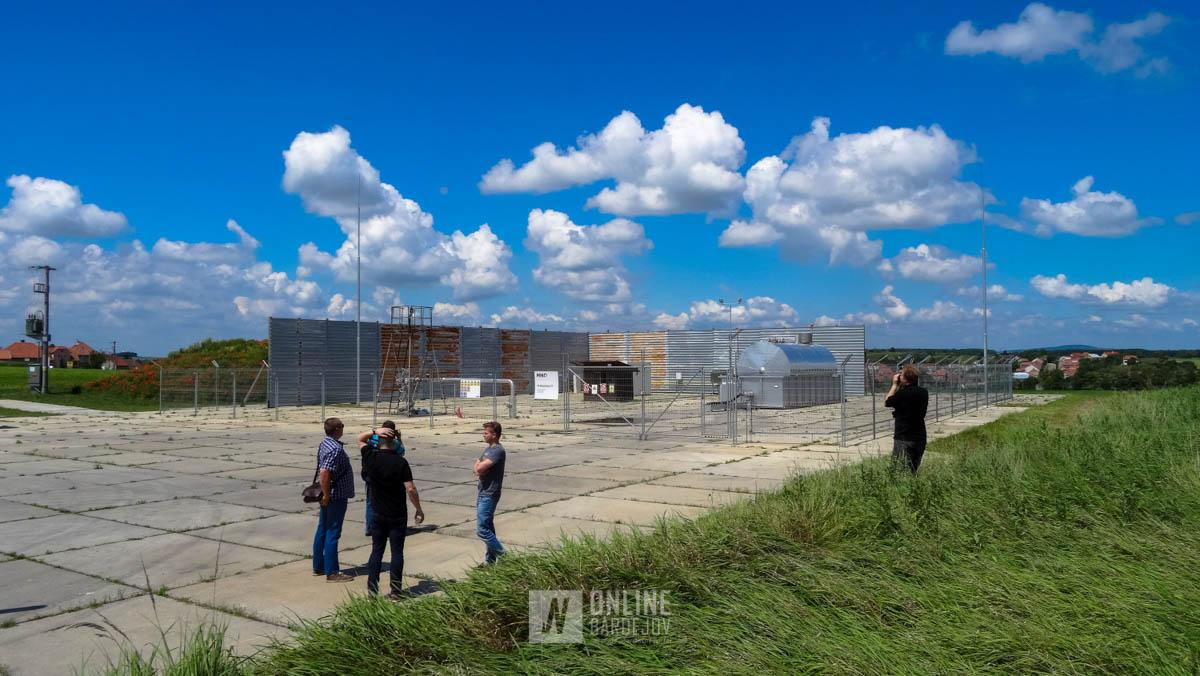 Pracovný priestor TS Mutěnice, kde prebieha ťažba ropy a plynu.
