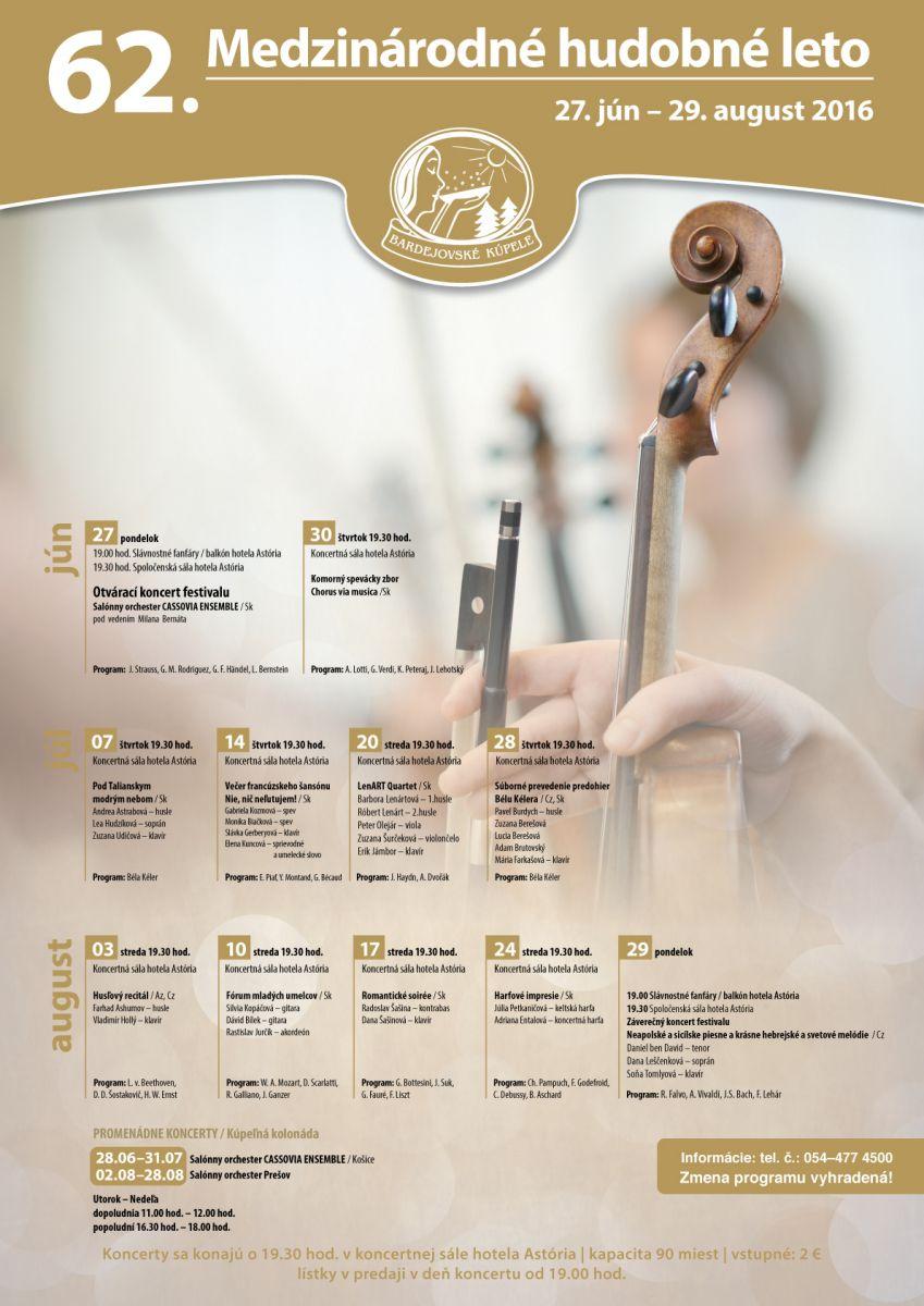 62. Medzinárodné hudobné leto v Bardejovských Kúpeľoch