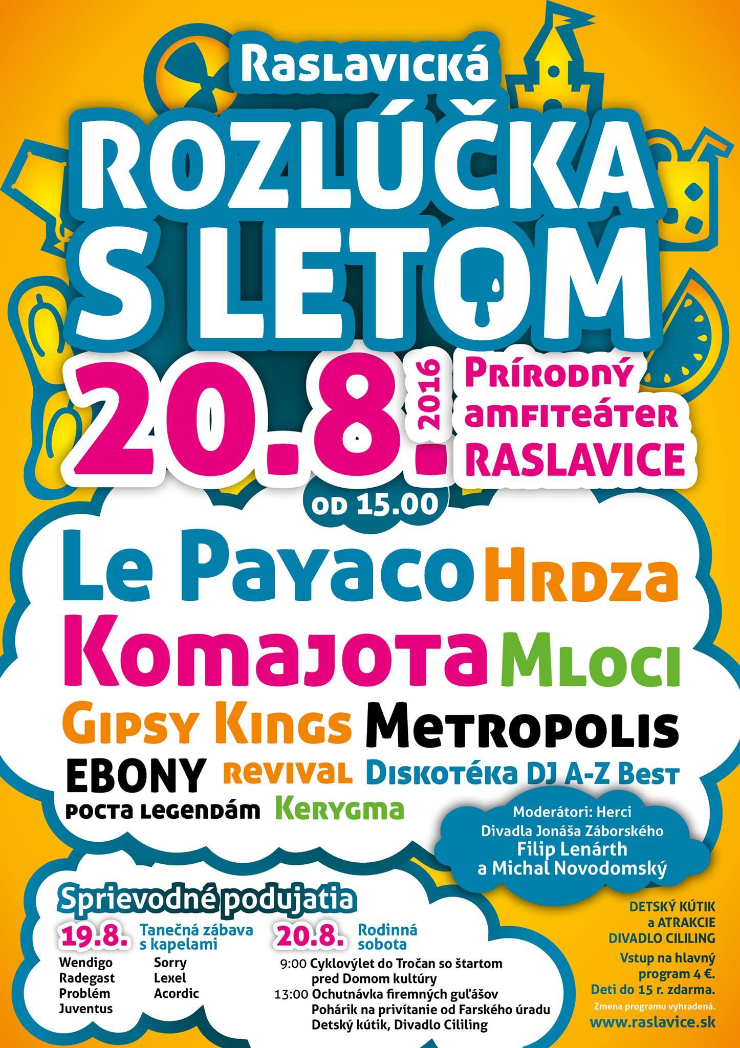 V Raslaviciach sa budú lúčiť s letom koncertmi a zábavou