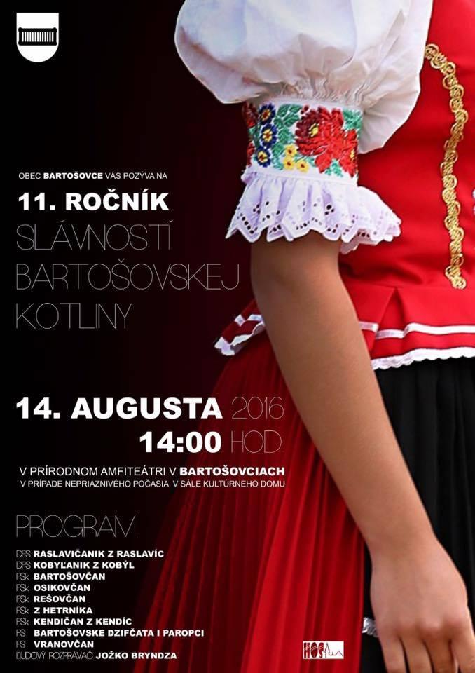 11. ročník slávnosti bartošovskej kotliny už túto nedeľu!
