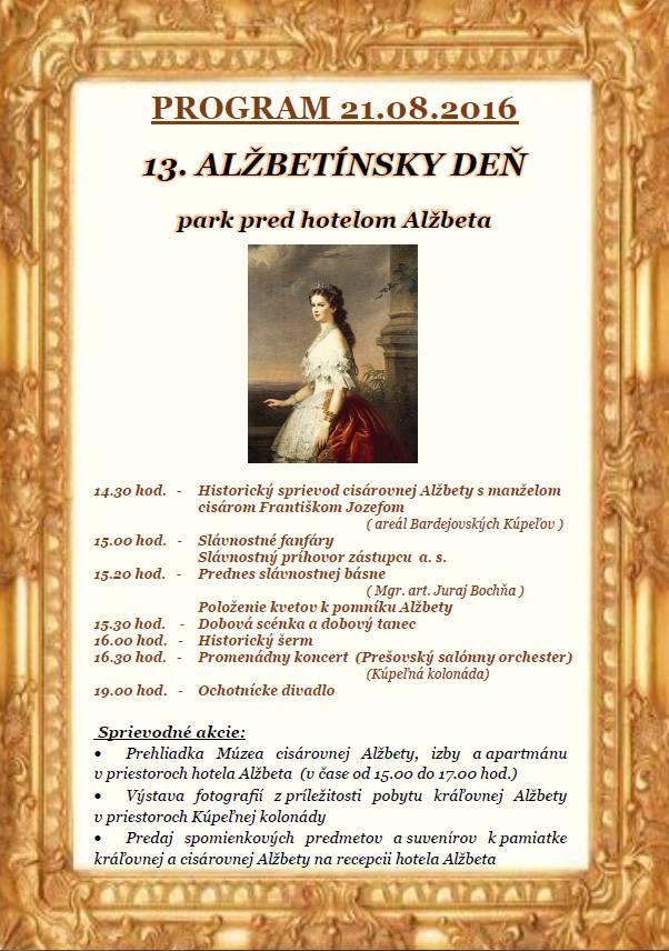 Program 13. Alžbetínskeho dňa