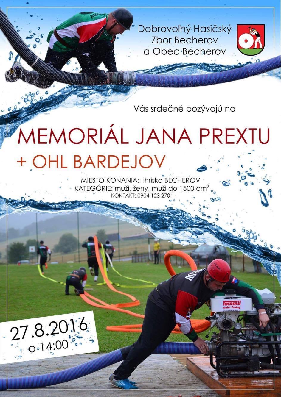 Memoriál Jána Prextu + OHL Bardejov