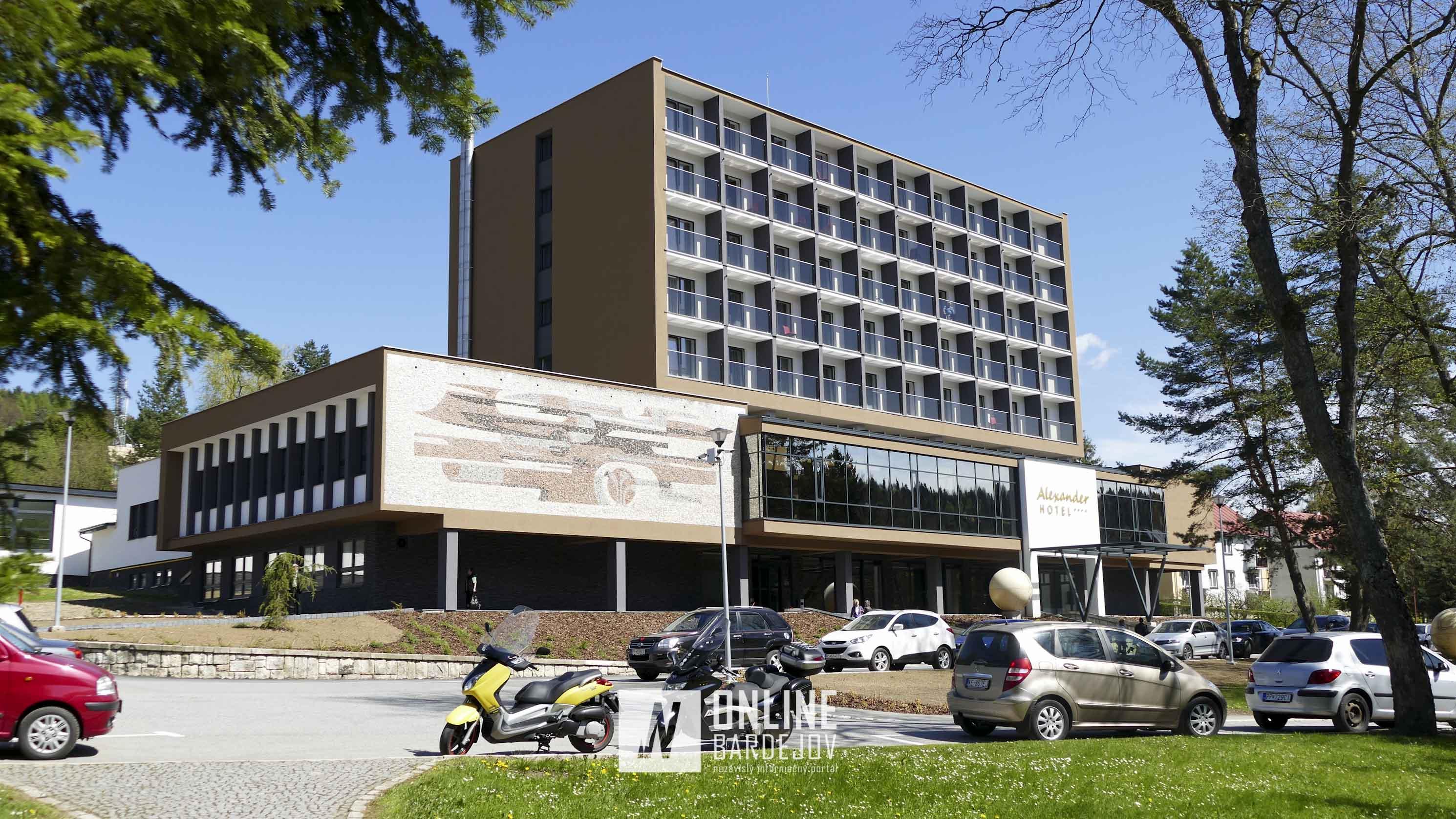 Štvorhviezdičkový hotel Alexander, ktorý vznikol komplexnou prestavbou hotela Minerál.
