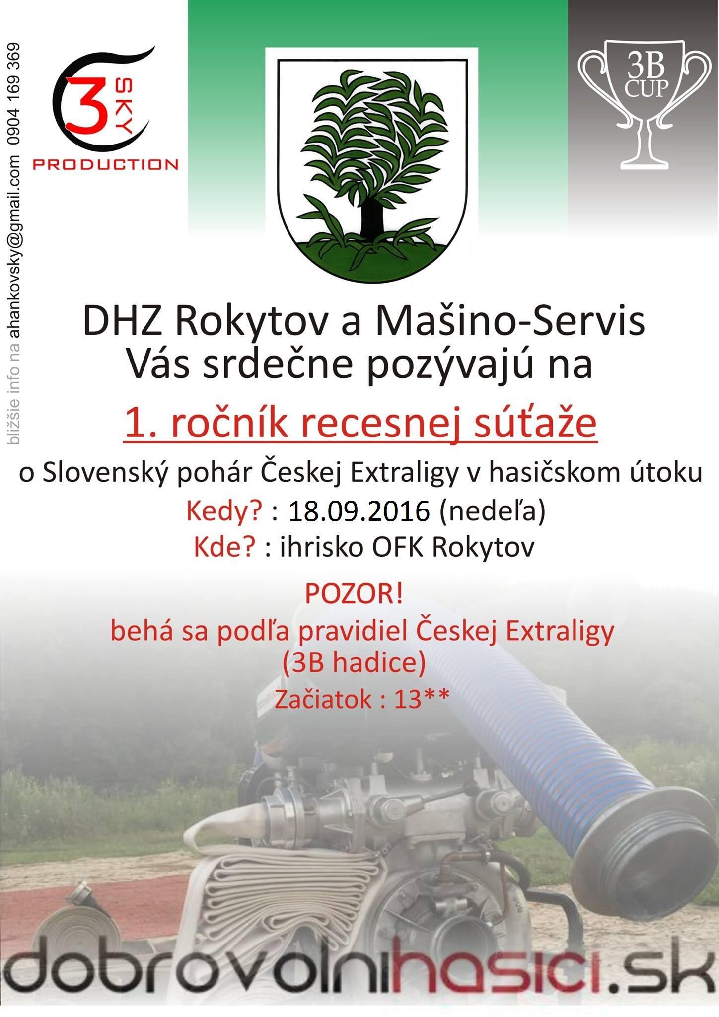 1. ročník recesnej súťaže o Slovenský pohár Českej Extraligy v hasičskom útoku