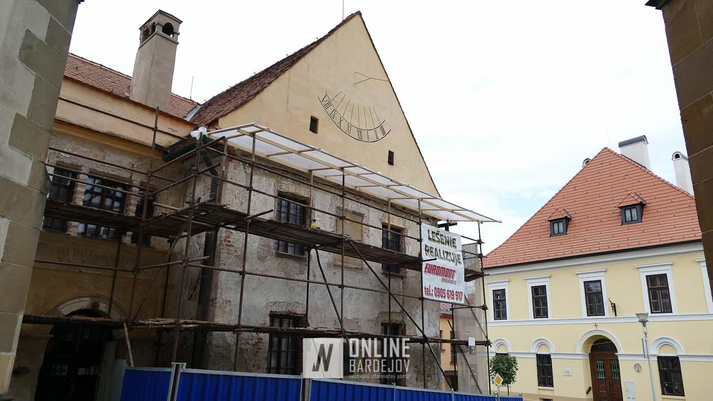 Obnova fasády bývalej mestskej školy