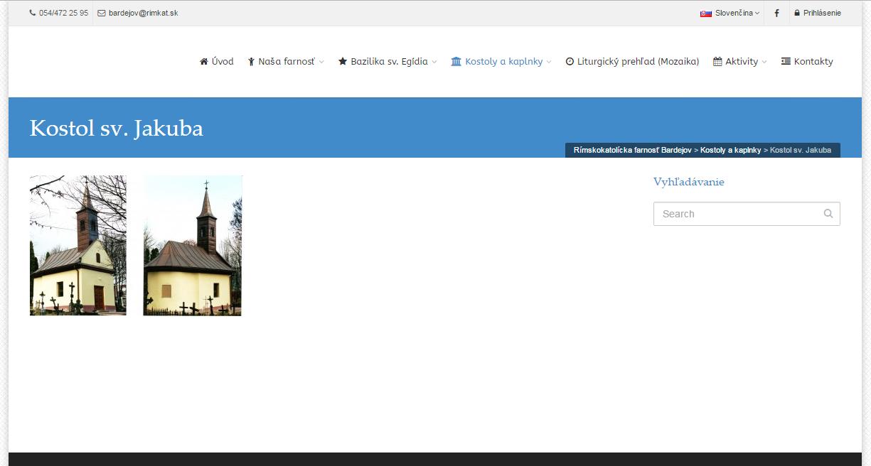 Informácie o cintoríne neposkytuje ani web stránka farnosti