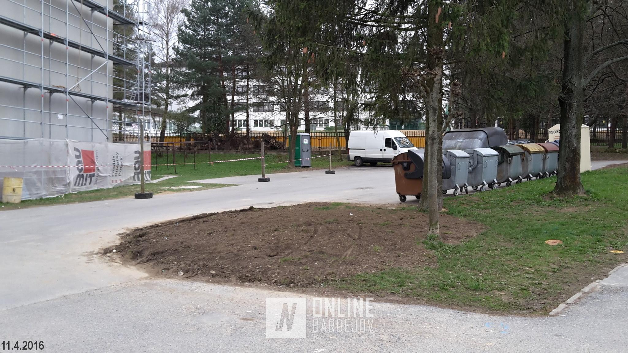V apríli bola predmetná plocha upravená