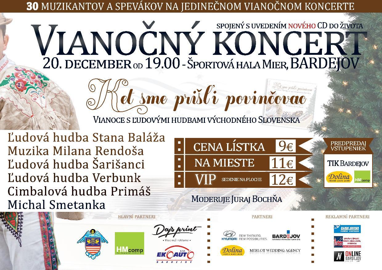 Pozvánka na 4. ročník Vianočného koncertu v Bardejove