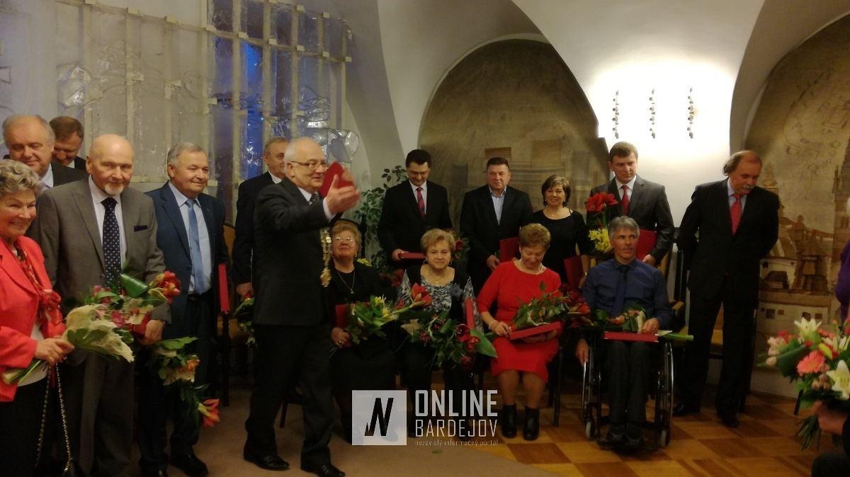 Vybrané osoby spoločenského života mesta Bardejov získali Cenu primátora za rok 2016