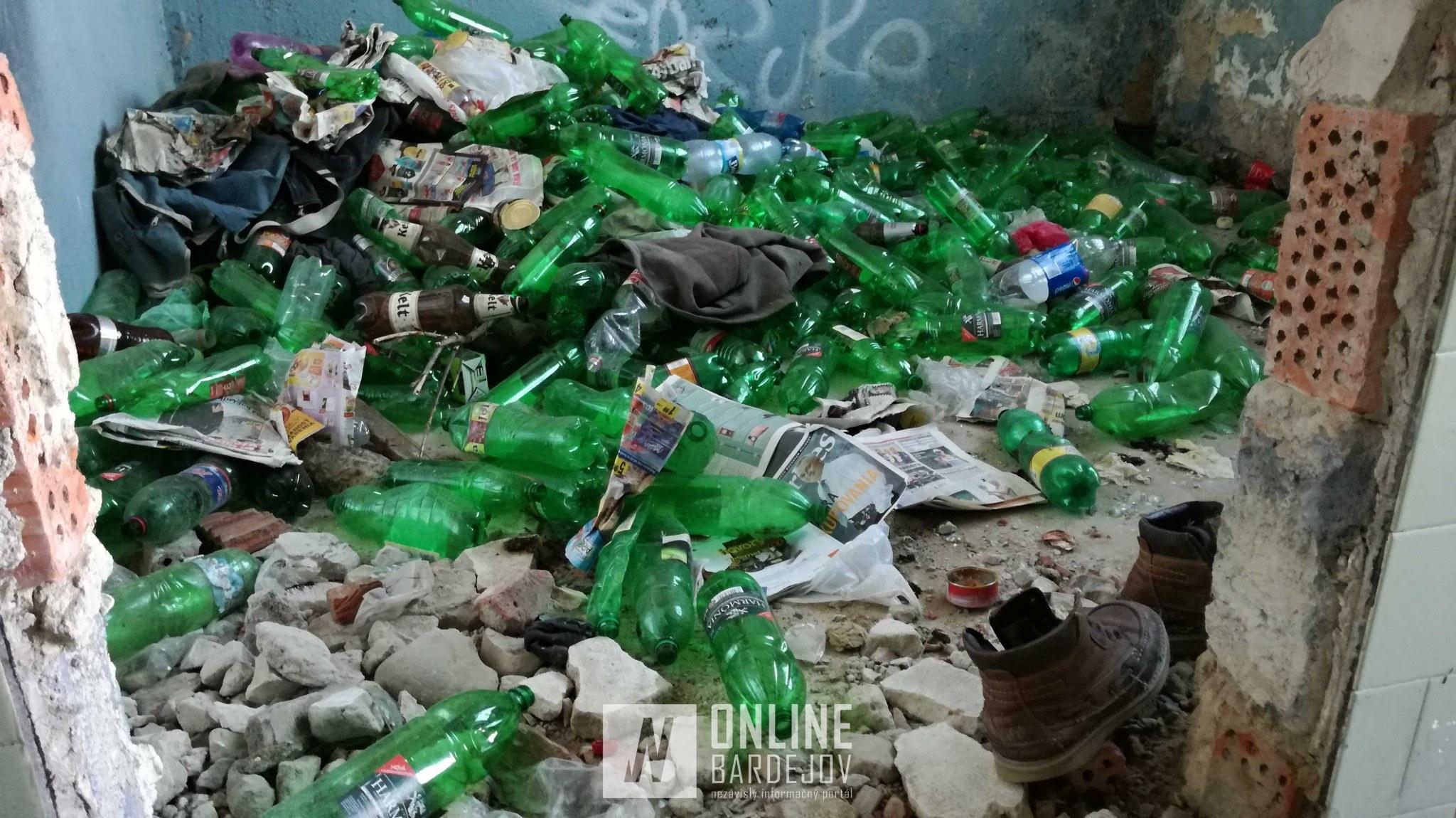 Vytriedené PET fľaše...