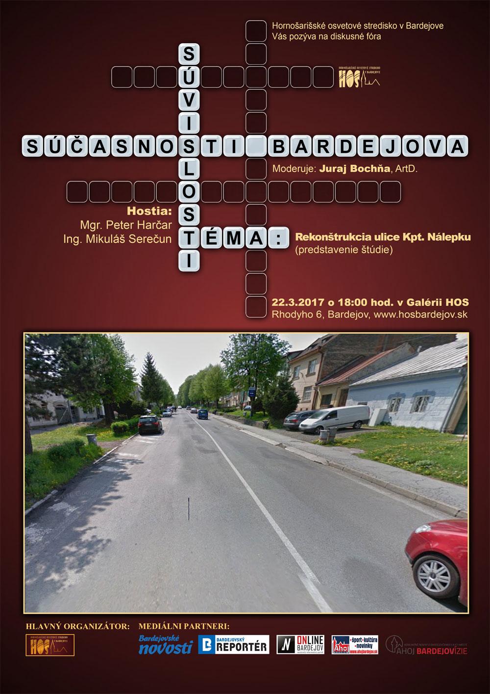 Súvislosti súčasnosti Bardejova – Rekonštrukcia ulice Kpt. Nálepku