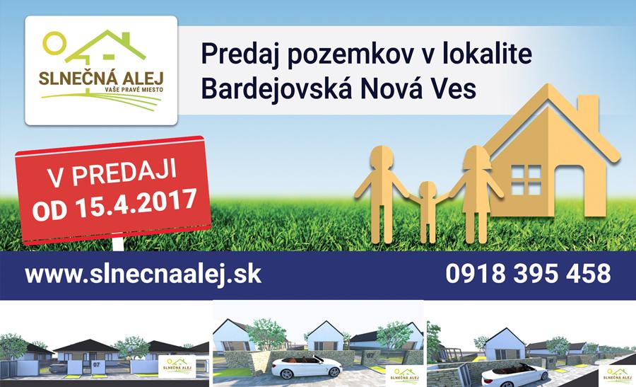 V mestskej časti Bardejovská Nová Ves vznikne nová štvrť