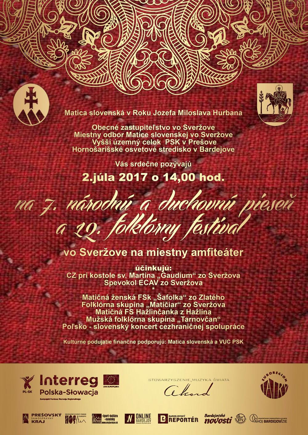 7. národná a duchovná pieseň a 12. folklórny festival