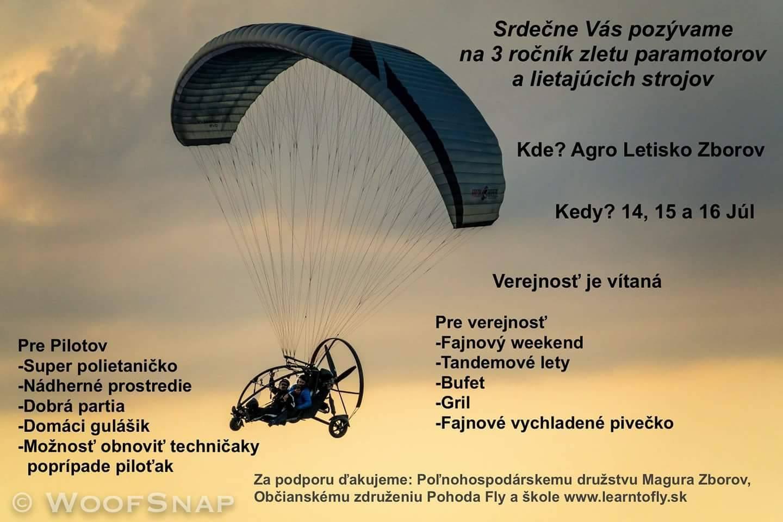 3. ročník zletu paramotorov a lietajúcich strojov