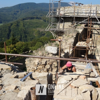 Rekonštrukčné práce na Zborovskom hrade