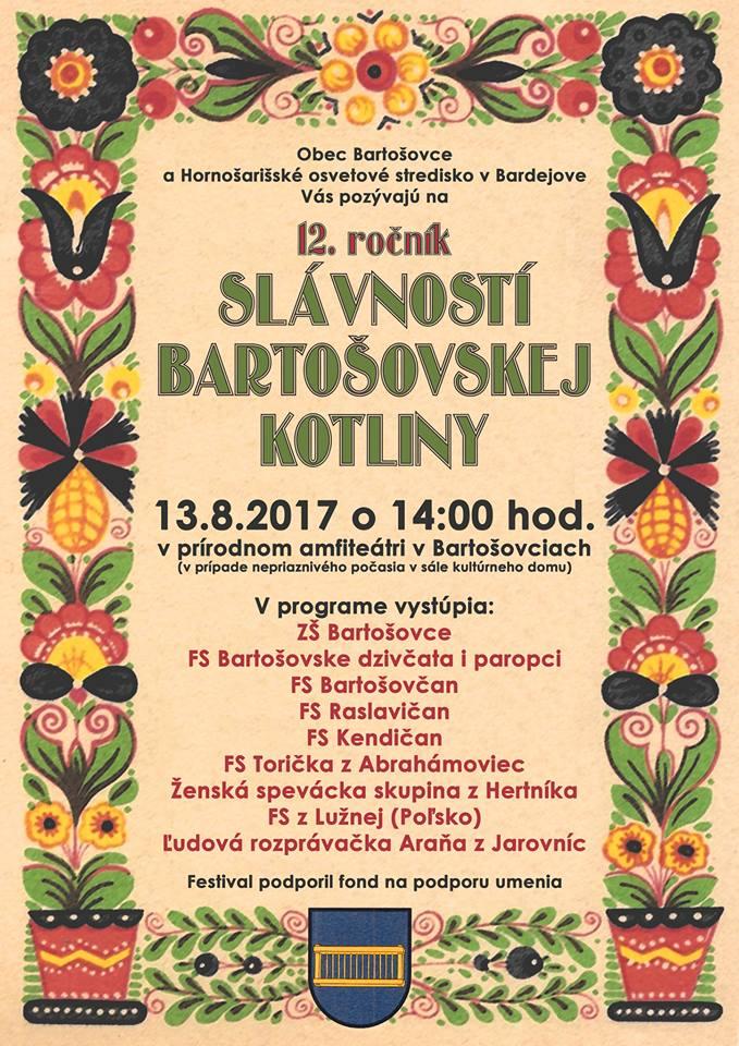 V Bartošovciach sa bude počas víkendu zabávať celá kotlina!