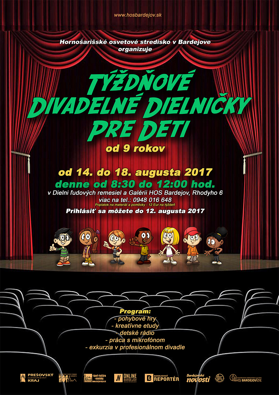 Týždňové divadelné dielničky pre deti