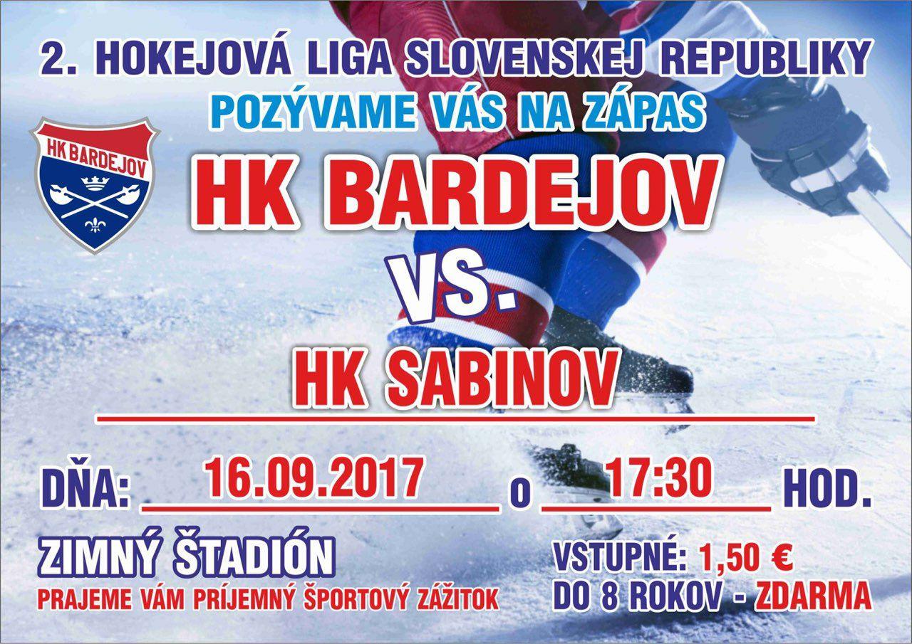 V sobotu začína 2. hokejová liga! Bardejov privíta Sabinov