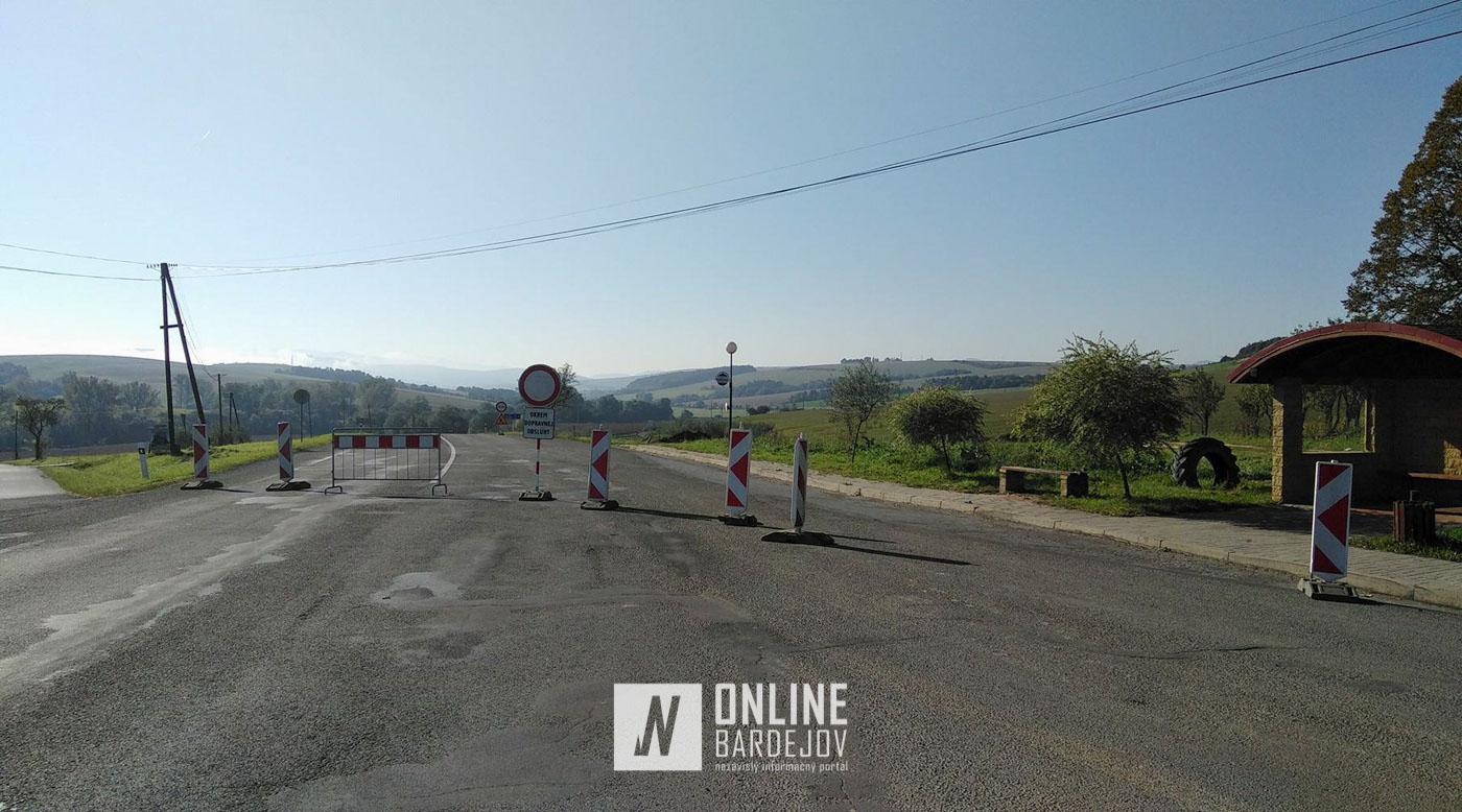 Cesta medzi  Raslavicami a Janovcami úplne uzatvorená až do 1. decembra
