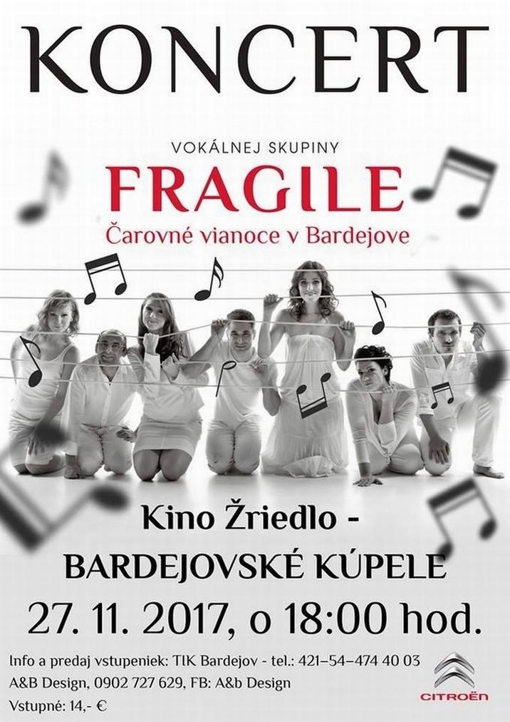 Predvianočný koncert FRAGILE Vás dostane!