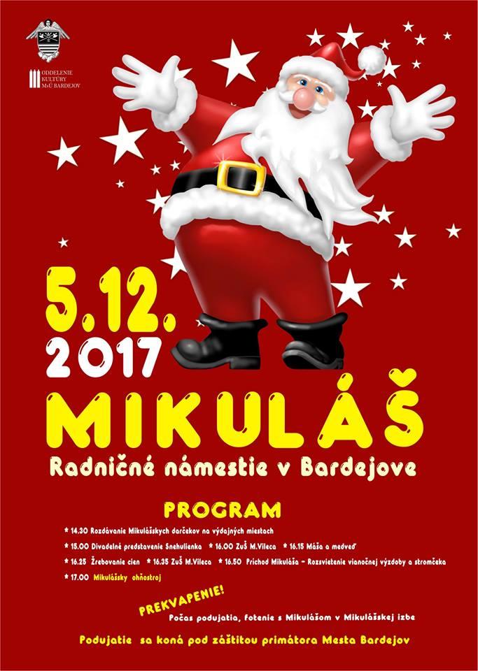 Mikuláš do Bardejova zavíta 5. decembra
