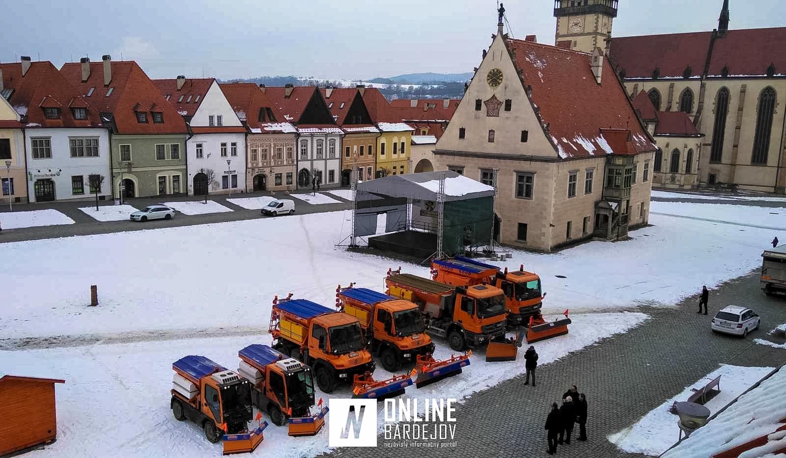 V boji so snehom sa v Bardejove budú spoliehať na novú techniku, za takmer 300 tisíc eur!