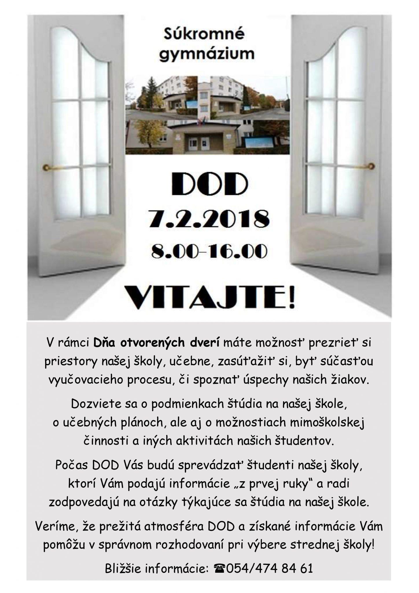 DOD – Súkromné gymnázium