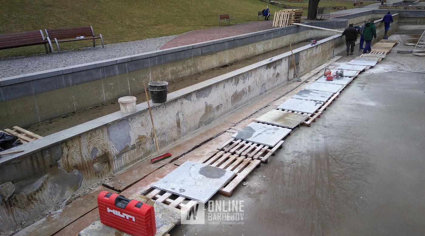 Fontána v Promenádnom parku prechádza výraznejšou opravou