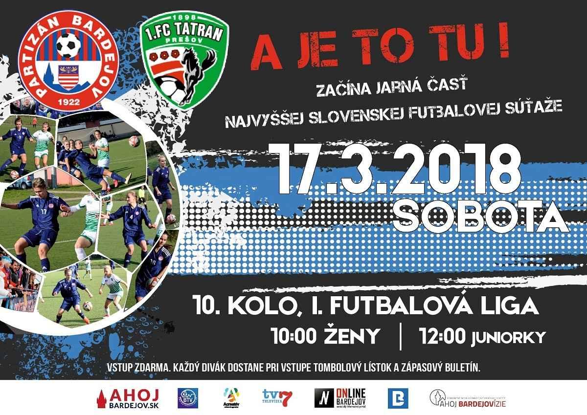 V úvodnom jarnom kole, privítajú futbalistky Partizána Bardejov súperky z Prešova!