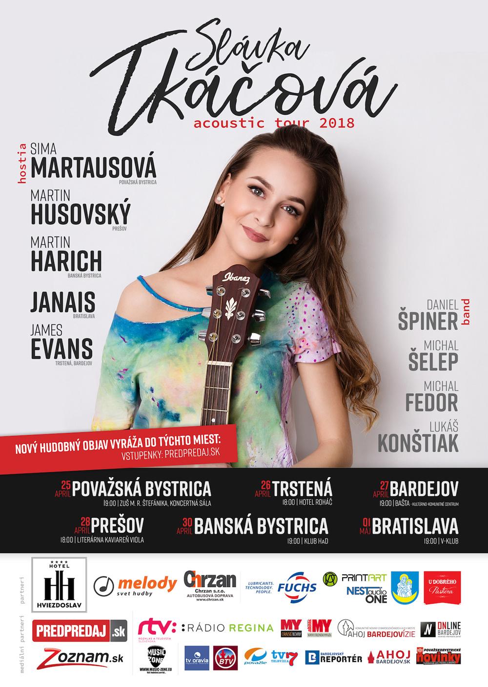Hudobný objav Slávka Tkáčová vyráža s podporou známych tvárí na akustické turné, neobíde ani Bardejov.