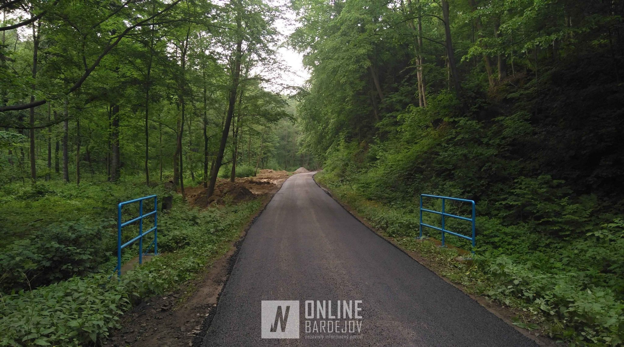 Mestské lesy Bardejov investujú do rekonštrukcie lesnej cesty na Mníchovskom potoku!