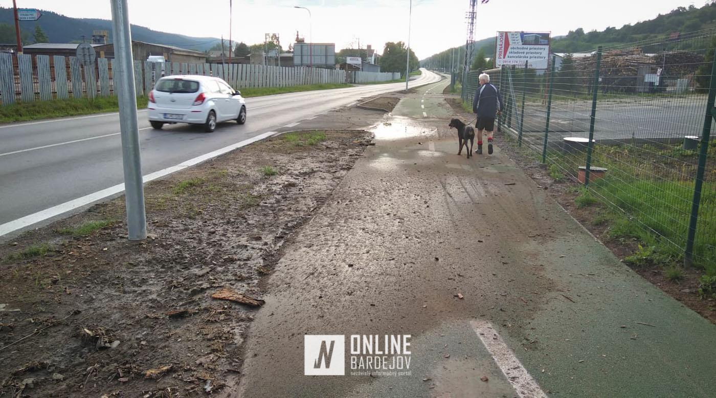 Výdatný dážď preveril novú cestu pre cyklistov. Pozrite si ako obstála!