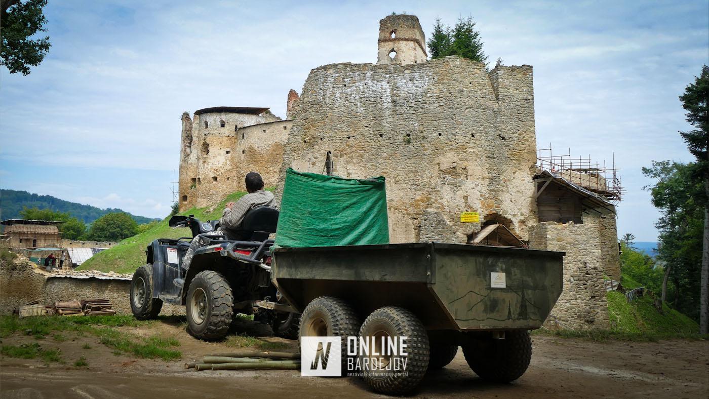 OBRAZOM: Stav rekonštrukcie Zborovského hradu pred deviatym výročím obnovy