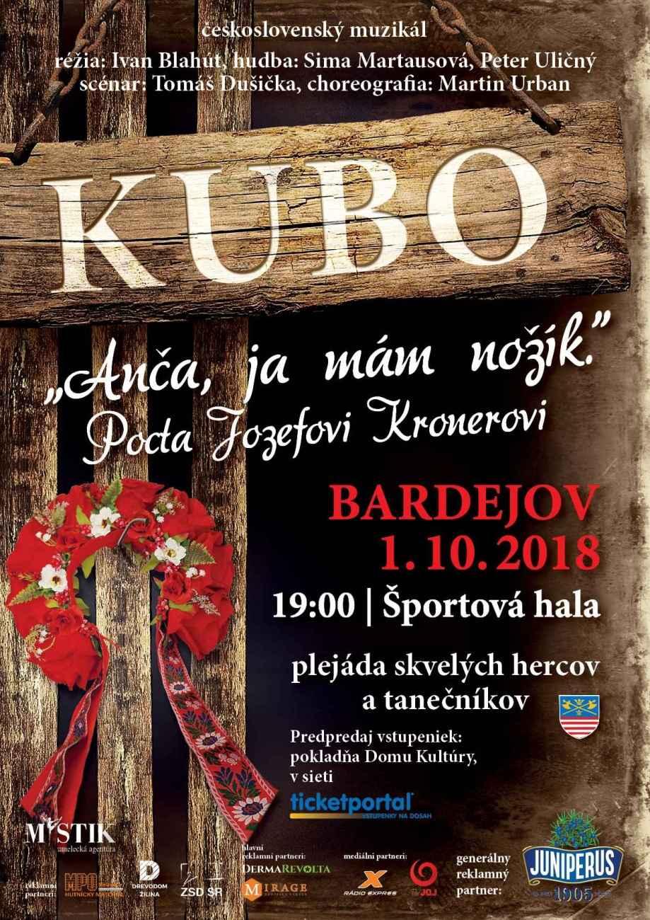 Exceletný československý muzikál KUBO má namierené do Bardejova!