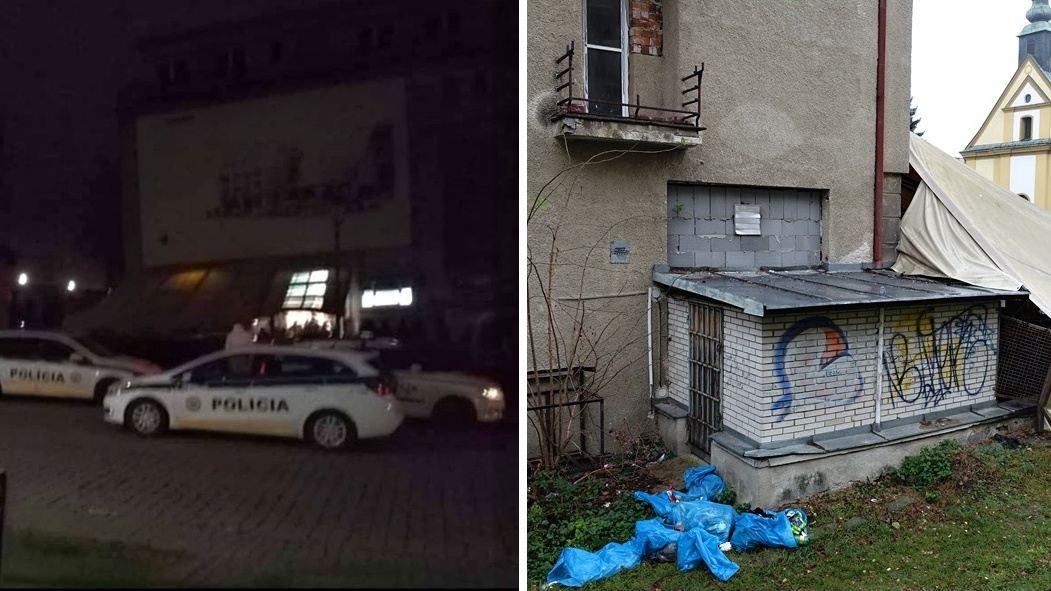 Bitka na rómskej zábave v centre mesta! Povaľujúce sa vrecia s odpadom a neporiadok v okolí pohostinstva
