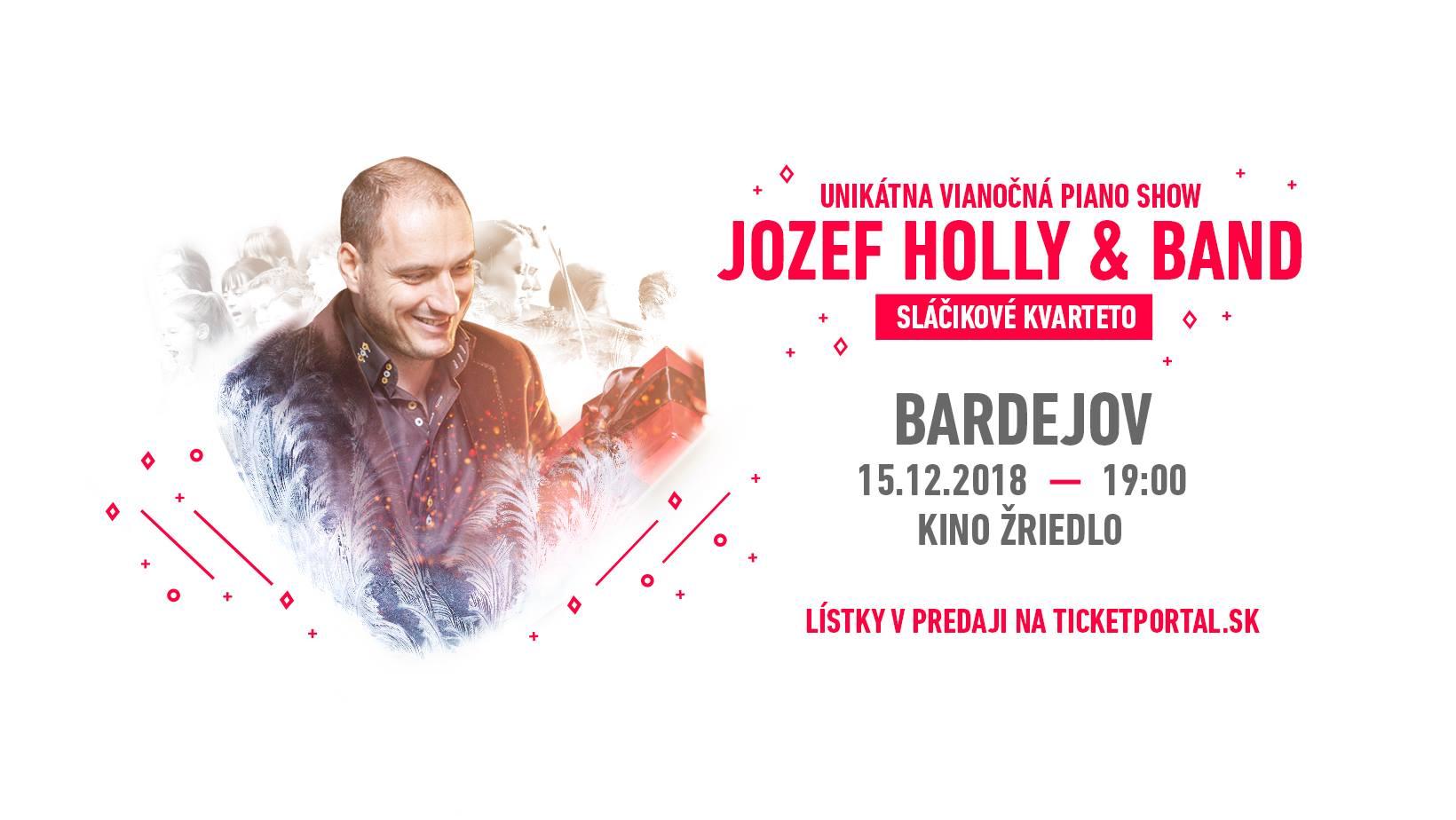 Unikátna vianočná piano show J. Hollého a skupiny. Už čoskoro v Bardejove!