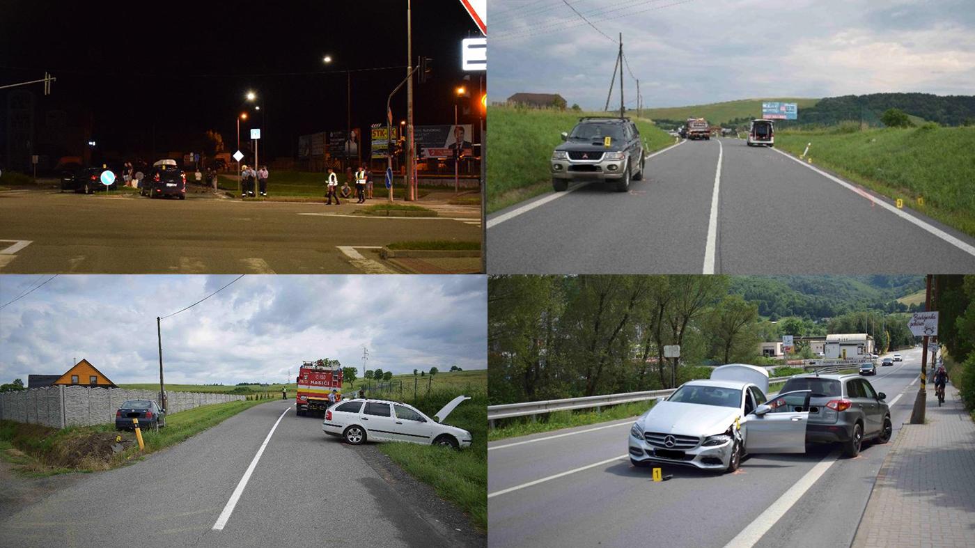 V nedeľu 23. júna sa to na cestách Bardejova a okresu hemžilo nehodami. Úradoval aj alkohol!