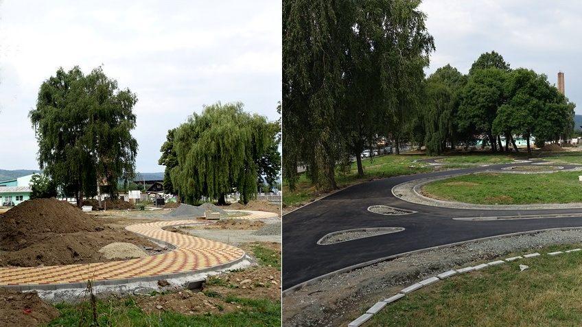Dobrá správa! Dopravné ihrisko už s hotovými cestičkami, na detskom ihrisku pribúdajú nové chodníky