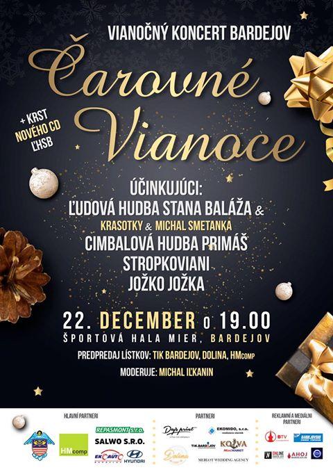 """Pozvánka na vianočný koncert """"Čarovné Vianoce"""""""