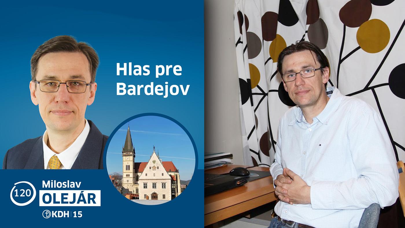 Čo prezradil Bardejovčan Miloslav Olejár o svojej kandidatúre do NR SR?