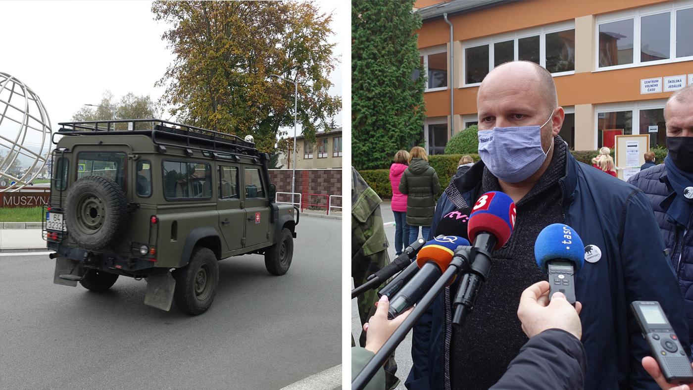 Minister obrany Jaroslav Naď informoval o priebehu testovania v Bardejove a na Orave