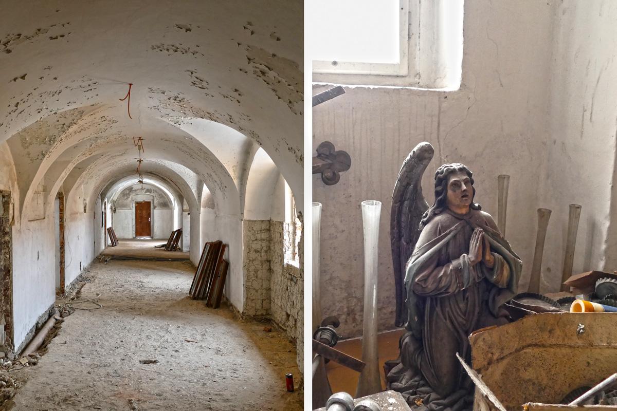 OBRAZOM: Pohľad do interiéru kláštora Františkánov pred komplexnou rekonštrukciou