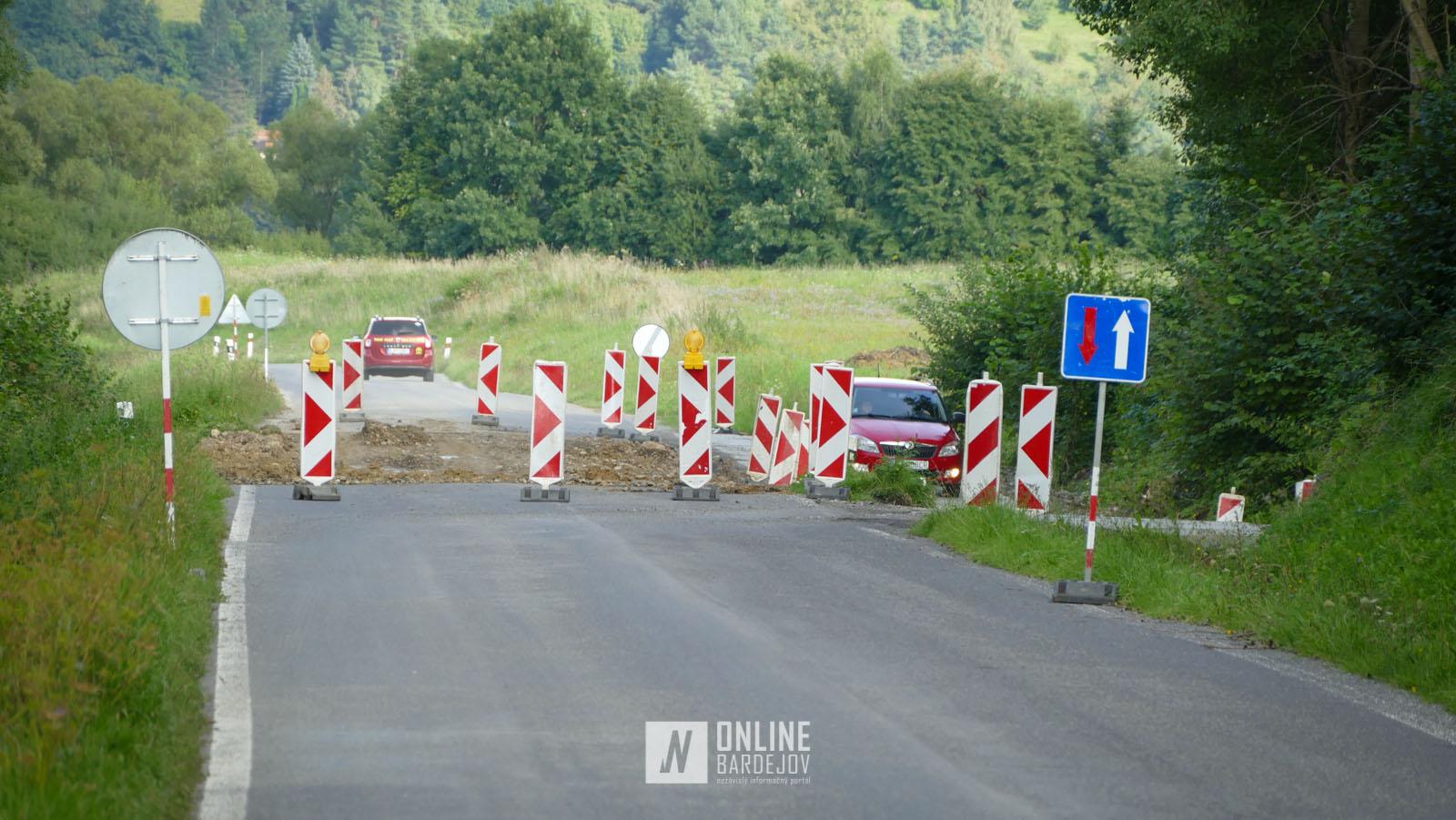 OBRAZOM: Rekonštrukcia cesty na Bardejovský Mihaľov