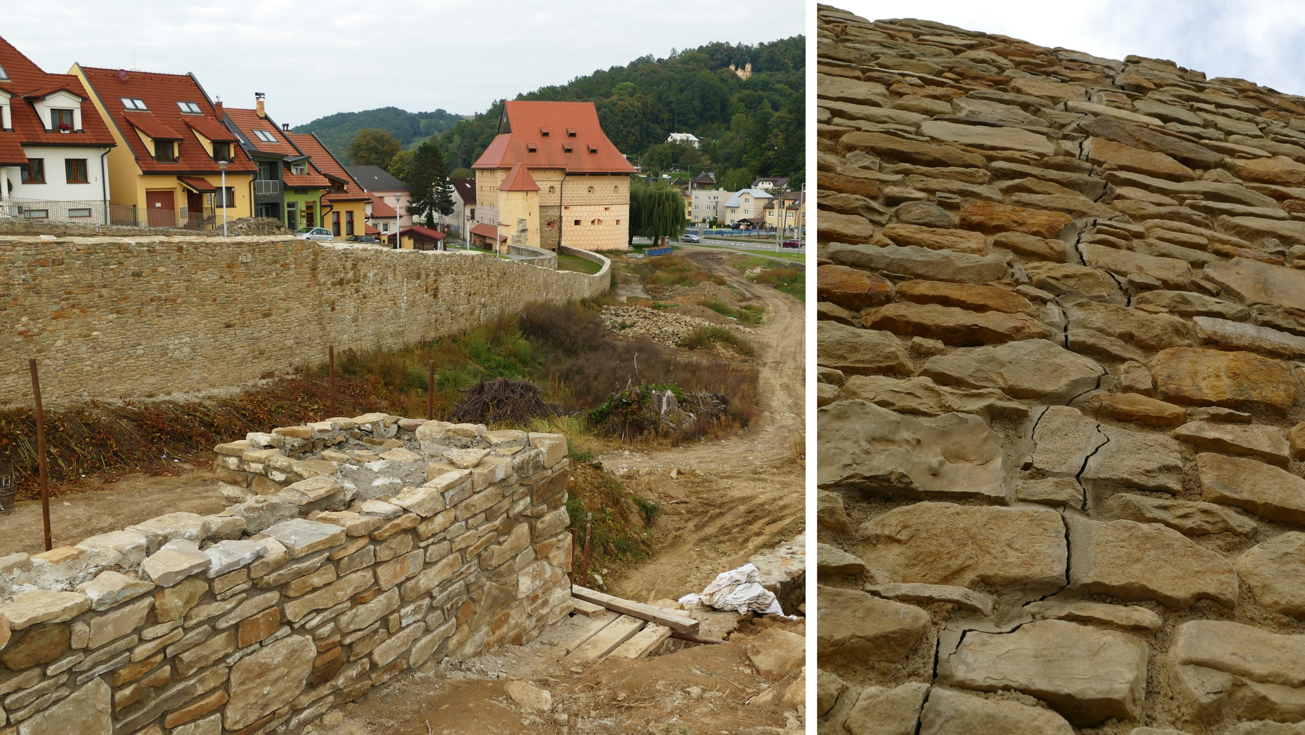 Novopostavené hradobné múry majú výrazné praskliny. Je v poriadku ich statika?